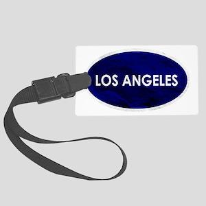 Los Angeles Blue Stone Large Luggage Tag