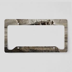 rustic boat beach nautical License Plate Holder