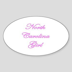North Carolina Girl Oval Sticker