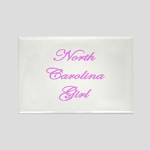 North Carolina Girl Rectangle Magnet