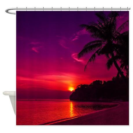 Beach scene Shower Curtain by simpleshopping