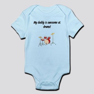 My Daddy Is Awesome At Drums Body Suit