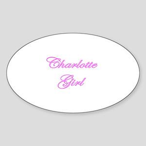 Charlotte Girl Oval Sticker