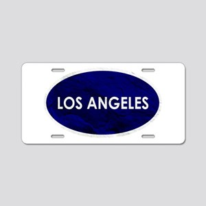 Los Angeles Blue Stone Aluminum License Plate