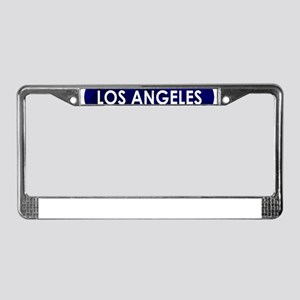 Los Angeles Blue Stone License Plate Frame