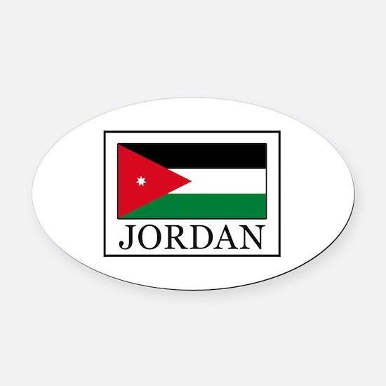 Jordan Oval Car Magnet