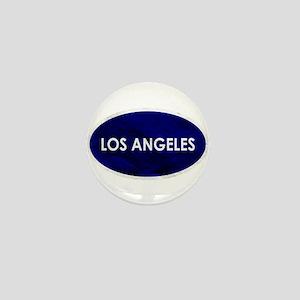 Los Angeles Blue Stone Mini Button