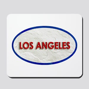 Los Angeles Red White Stone Mousepad