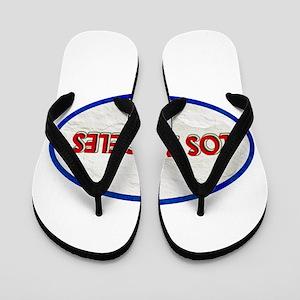 Los Angeles Red White Stone Flip Flops