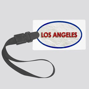 Los Angeles Red White Stone Large Luggage Tag