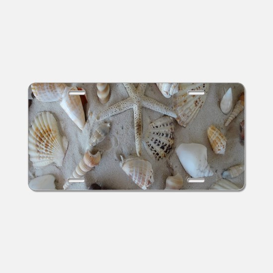 Beautiful Seashells Aluminum License Plate