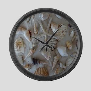 Beautiful Seashells Large Wall Clock