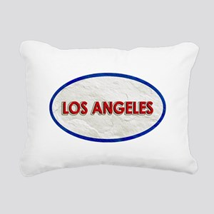 Los Angeles Red White St Rectangular Canvas Pillow