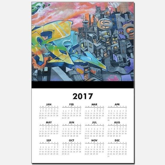 Graffiti City Scape Calendar Print