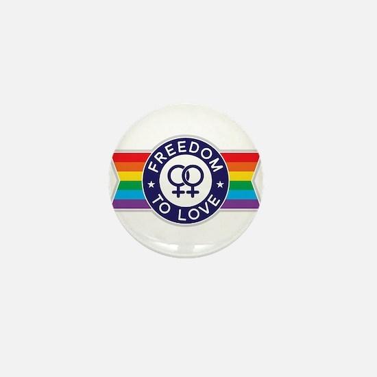 Freedom to Love Female Mini Button