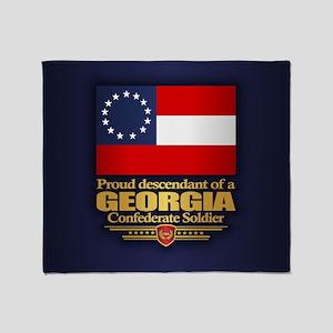Georgia Proud Descendant Throw Blanket