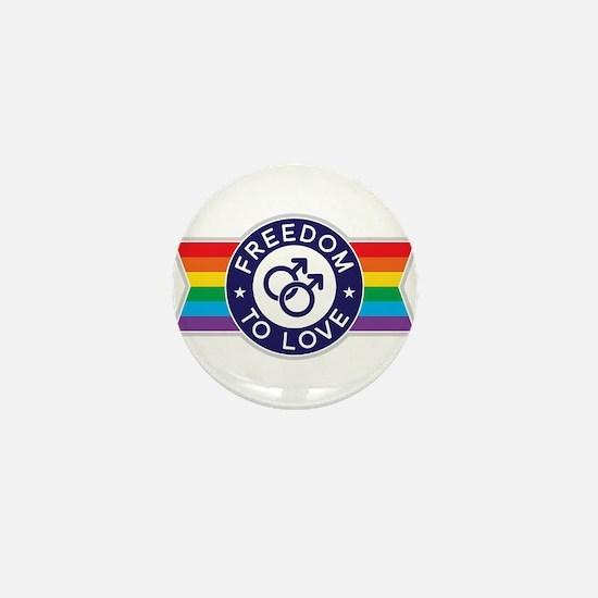 Freedom to Love Male Mini Button