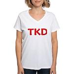 TKD Taekwondo Women's V-Neck T-Shirt