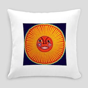Huichol_String_Art_Sun_dark_backgr Everyday Pillow