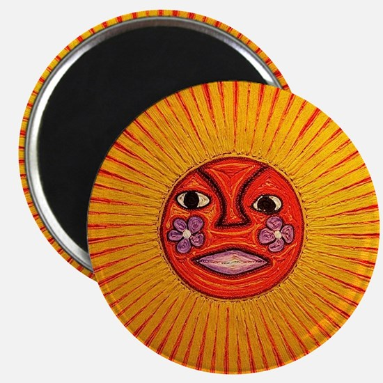 Huichol_String_Art_Sun_dark_background_180 Magnets
