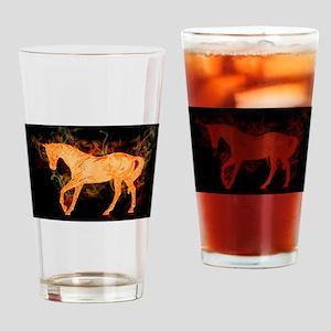 Fantasy Fiery Horse Drinking Glass