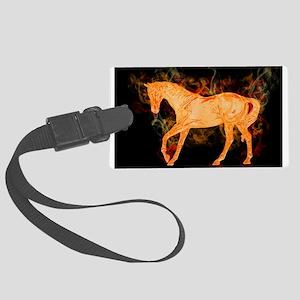 Fantasy Fiery Horse Luggage Tag