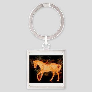 Fantasy Fiery Horse Keychains