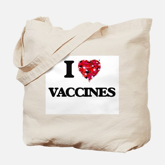 I love Vaccines Tote Bag