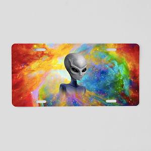 Alien Prism Nebula ~ Aluminum License Plate
