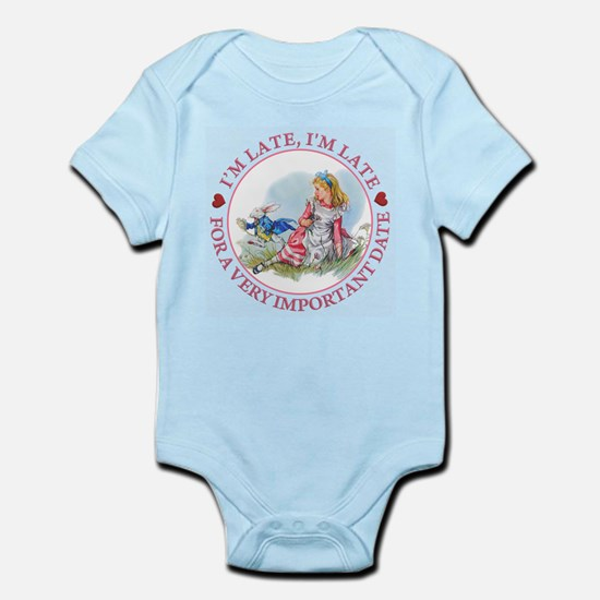 I'm Late , I'm Late, For a Very Im Infant Bodysuit