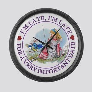 I'm Late , I'm Late, For a Very I Large Wall Clock