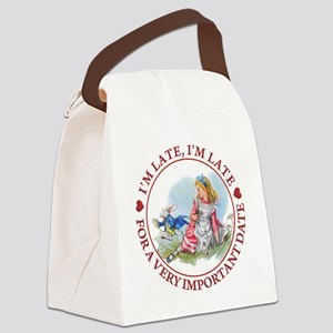 I'm Late , I'm Late, For a Very I Canvas Lunch Bag