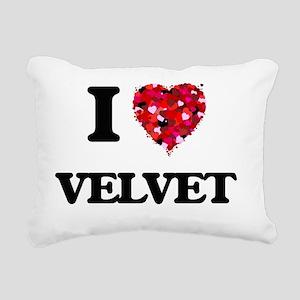 I love Velvet Rectangular Canvas Pillow