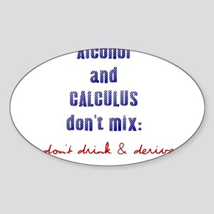 Don't Drink & Derive Oval Sticker