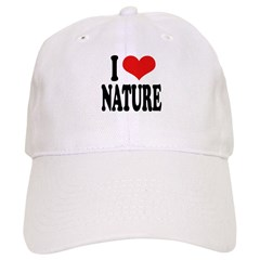 I Love Nature Baseball Cap