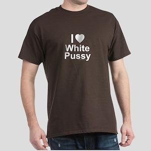 White Pussy Dark T-Shirt
