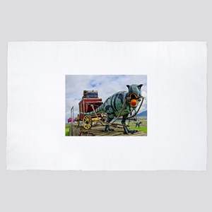 T-Rex Pulling Stage Coach 4' x 6' Rug