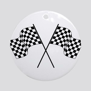 racing car flags Ornament (Round)