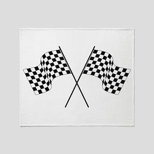 racing car flags Throw Blanket