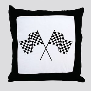 racing car flags Throw Pillow