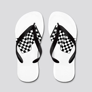racing car flags Flip Flops