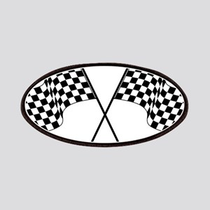 racing car flags Patch