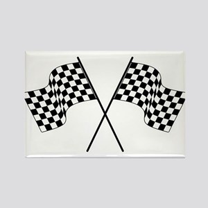 racing car flags Magnets