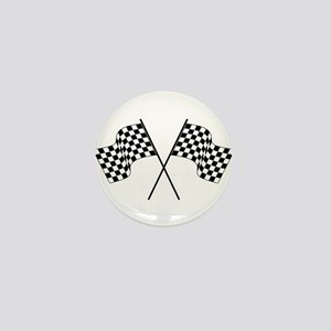racing car flags Mini Button