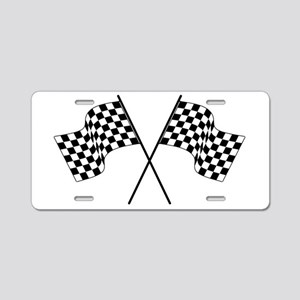 racing car flags Aluminum License Plate