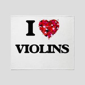 I love Violins Throw Blanket