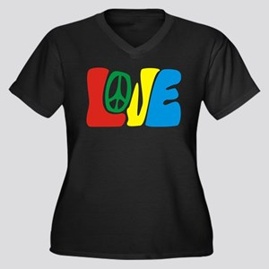 lovePeace Plus Size T-Shirt
