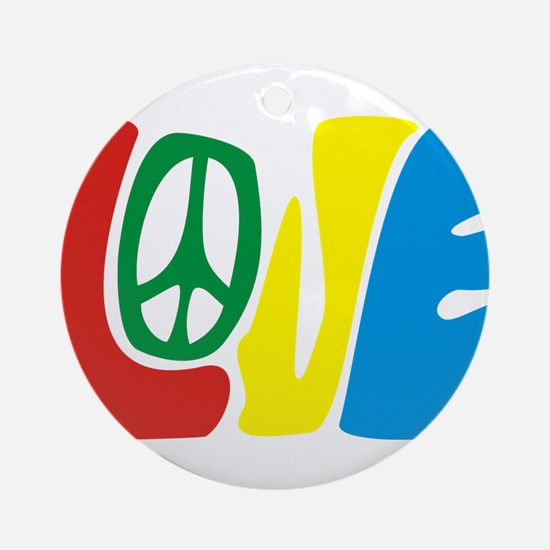 lovePeace Ornament (Round)