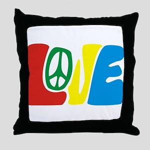 lovePeace Throw Pillow