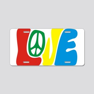 lovePeace Aluminum License Plate